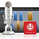 Blue Yeti Silver + Hindenburg Journalist Software Podcaster Bundle (Color: Silver, Tamaño: Mic + Podcaster Bundle)
