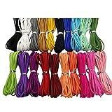 100 Yards 20 Bundles 2.6mm Suede Korean Velvet Leather Thread (Color-2) #205 (Color: Color-2, Tamaño: 0.26mm)