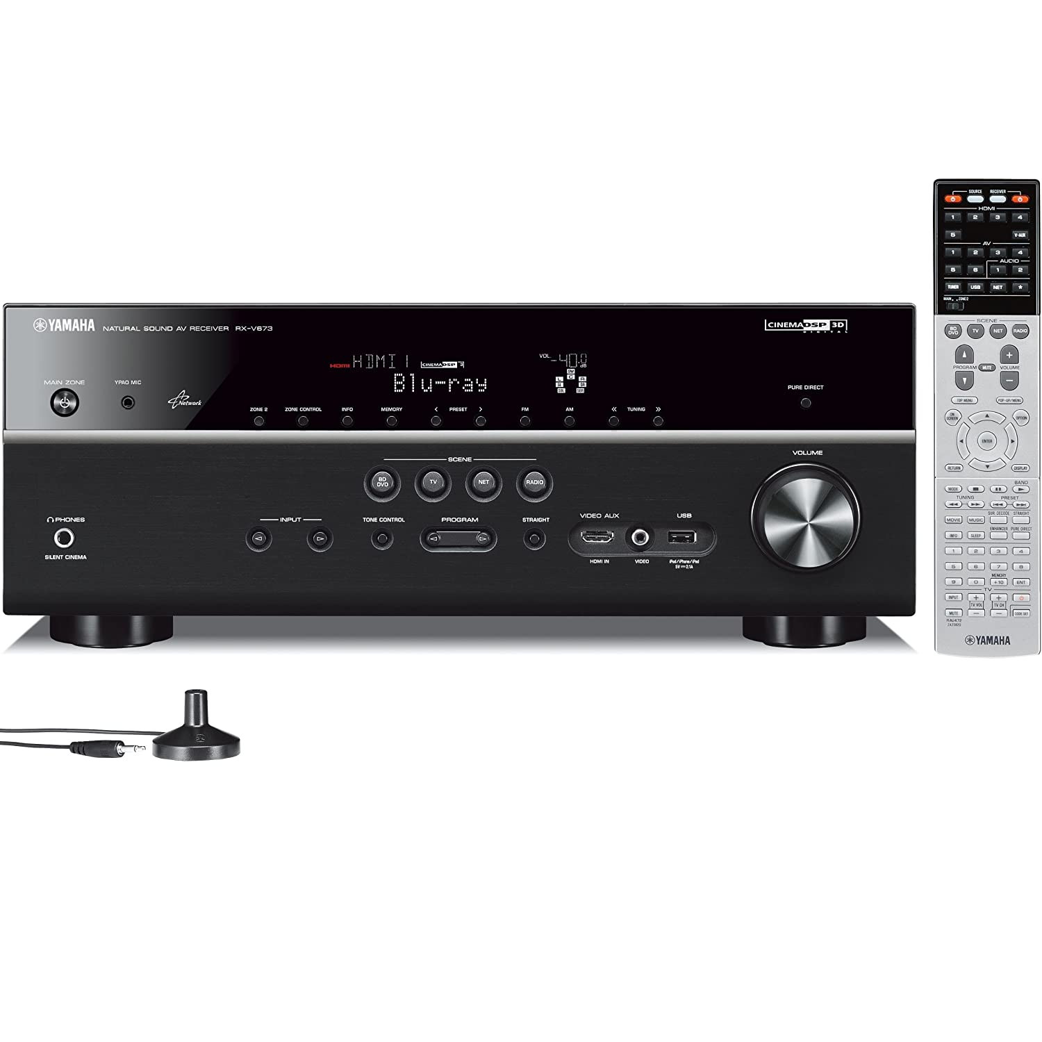 Yamaha RX-V673 7.2-Channel Network AV Receiver