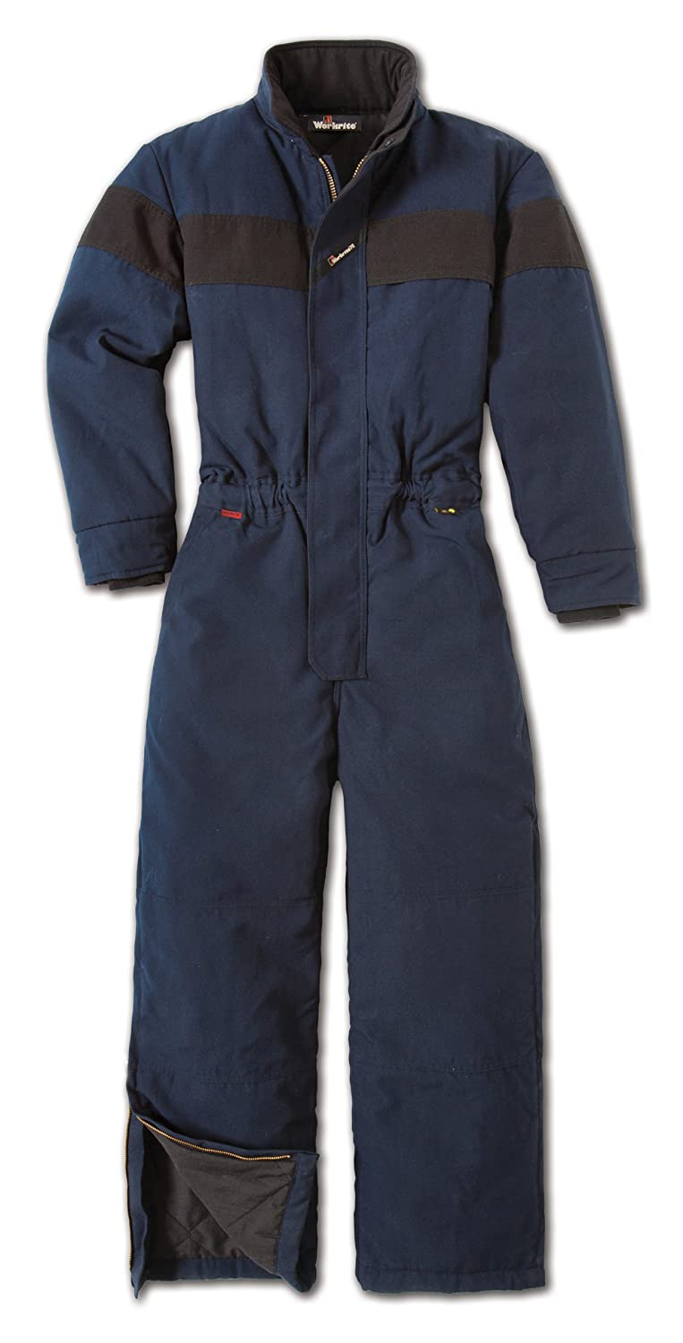 Workrite Flame Resistant 6 oz Nomex IIIA Insulated Coverall, Rib-Knit Cuff, 2X-Large, Regular Length, Navy Blue mcr safety flame resistant