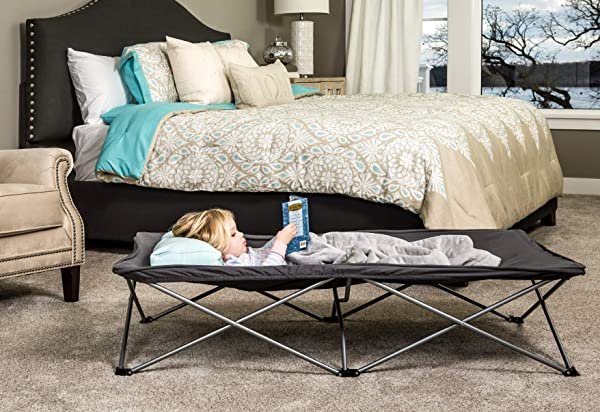 Regalo My Cot Extra Long Portable Bed, Includes Fitted Sheet, Gray (Color: Gray, Tamaño: Small Single)