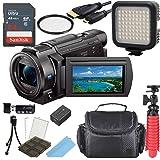 Sony 4K HD Video Recording FDRAX33 Handycam Camcorder + 64GB Memmory + Video Light + Accessory Bundle