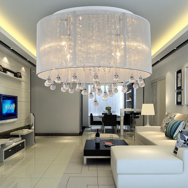 OOFAY LIGHT® einfache und graziöse 6 Stücke-Kristall-Deckenlampe ...