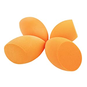 Real Techniques Miracle Complexion Sponge, 0.9375 ounce (Pack of 4), Latex-Free, Polyurethane Foam, Multi-Purpose, Round Bottom Makeup Sponges, Ideal for Blending