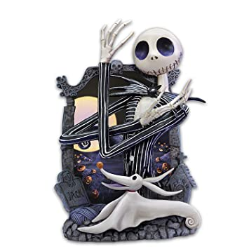 Nightmare Before Christmas Jack Skellington Glow In The Dark Wall Sculpture by The Bradford Exchange