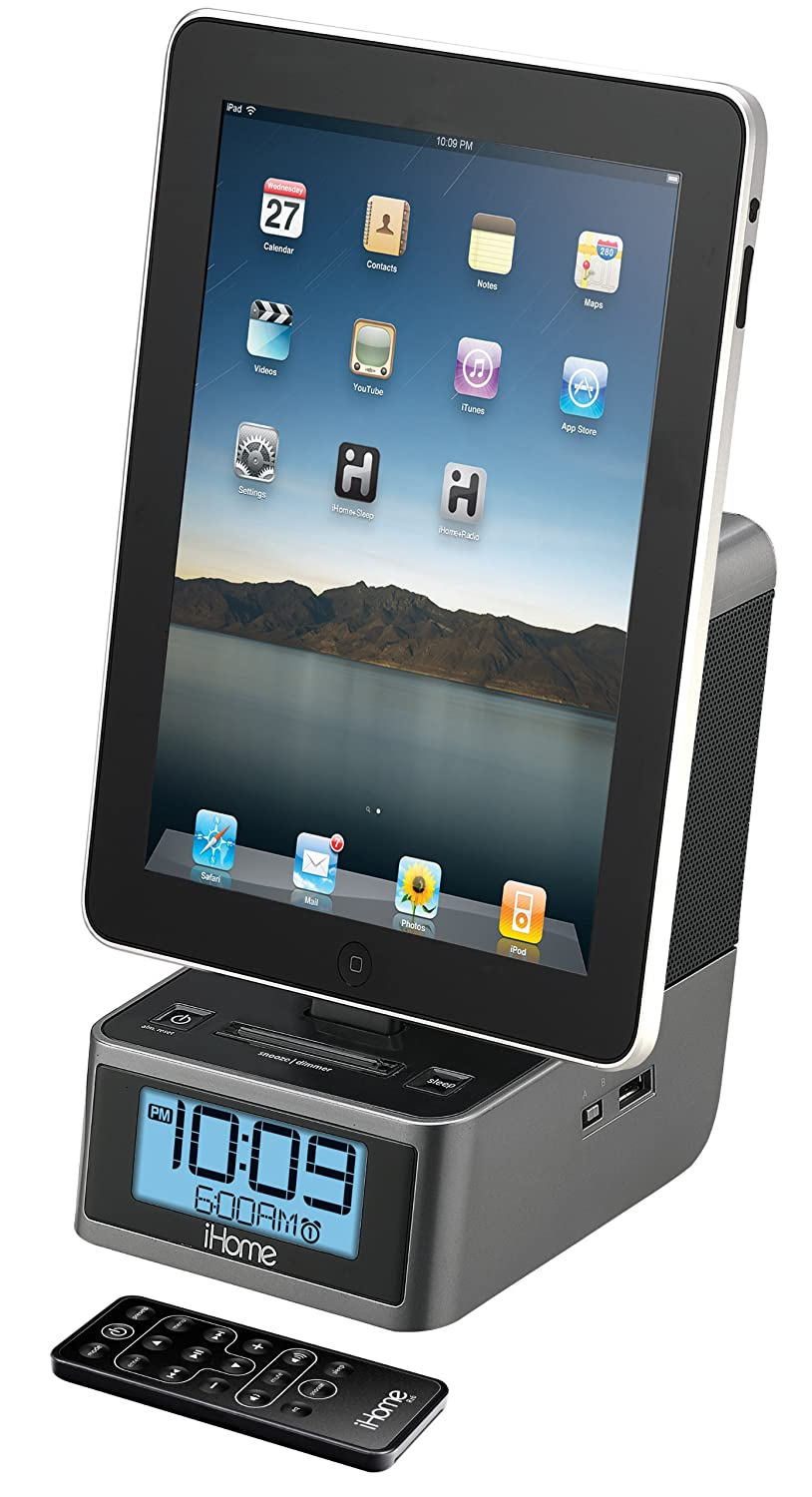 Alarm Clock Speaker Dock for iPad, iPhone, iPad