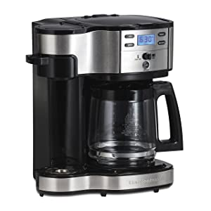 Hamilton Beach Single Serve Coffee Brewer And Full Pot Coffee Maker, 2-Way