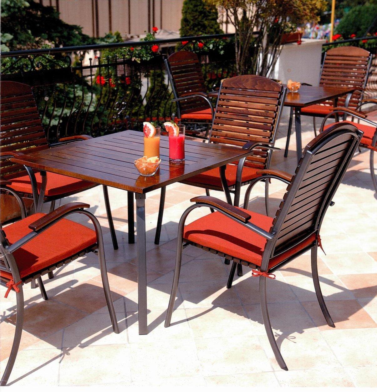 Gartenmöbel Set Linus Braun 5 Teile Terrassenmöbel Echtholz Esstisch
