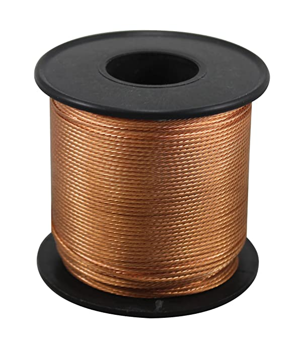 iLightingSupply 56-0835-06 18 Gauge Braided Bare Copper Wire 250Ft Spool, 250', (Color: Copper, Tamaño: 250')