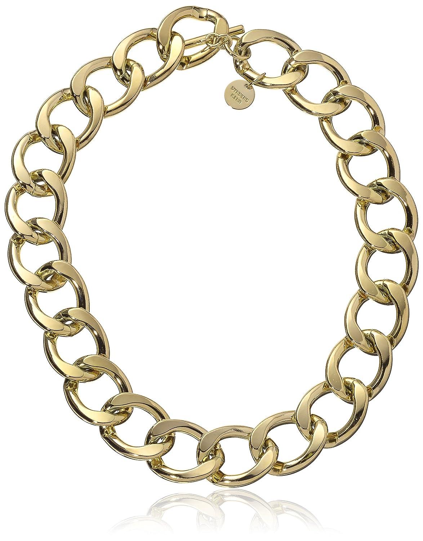 Dyrberg/Kern Damen-Kette ohne Anhänger 15/02 Quirea Shiny Gold Messing teilvergoldet 50 cm - 338275