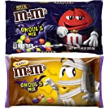 M&M Ghouls Mix Halloween Candy Assortment Variety - Spooky Colors Milk Chocolate and Peanut MMs - Fun Seasonal MM Candies (2 Bags Total) - 11.4 oz (Color: Ghouls Mix)