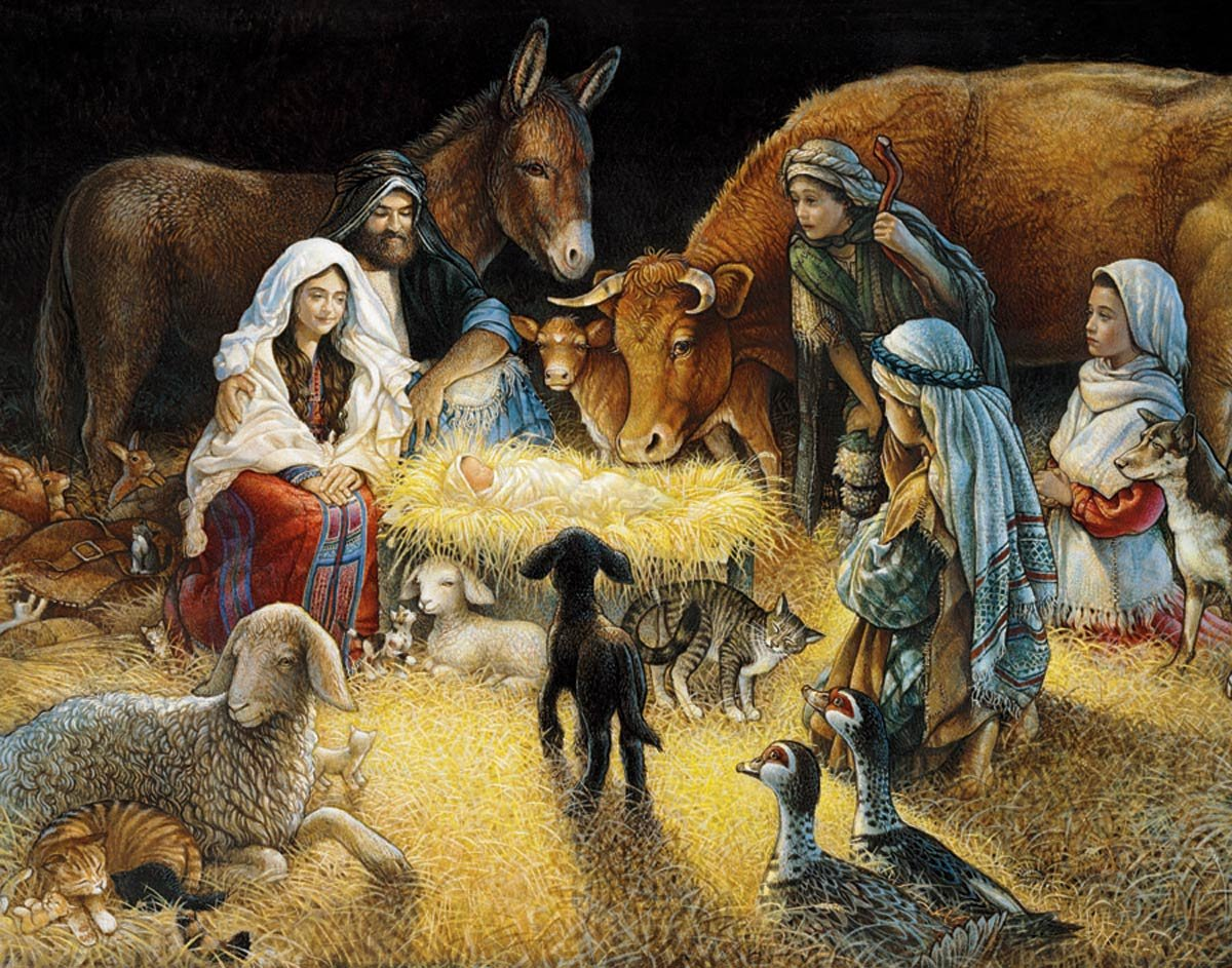 Buy this christmas nativity jigsaw puzzle from amazon com
