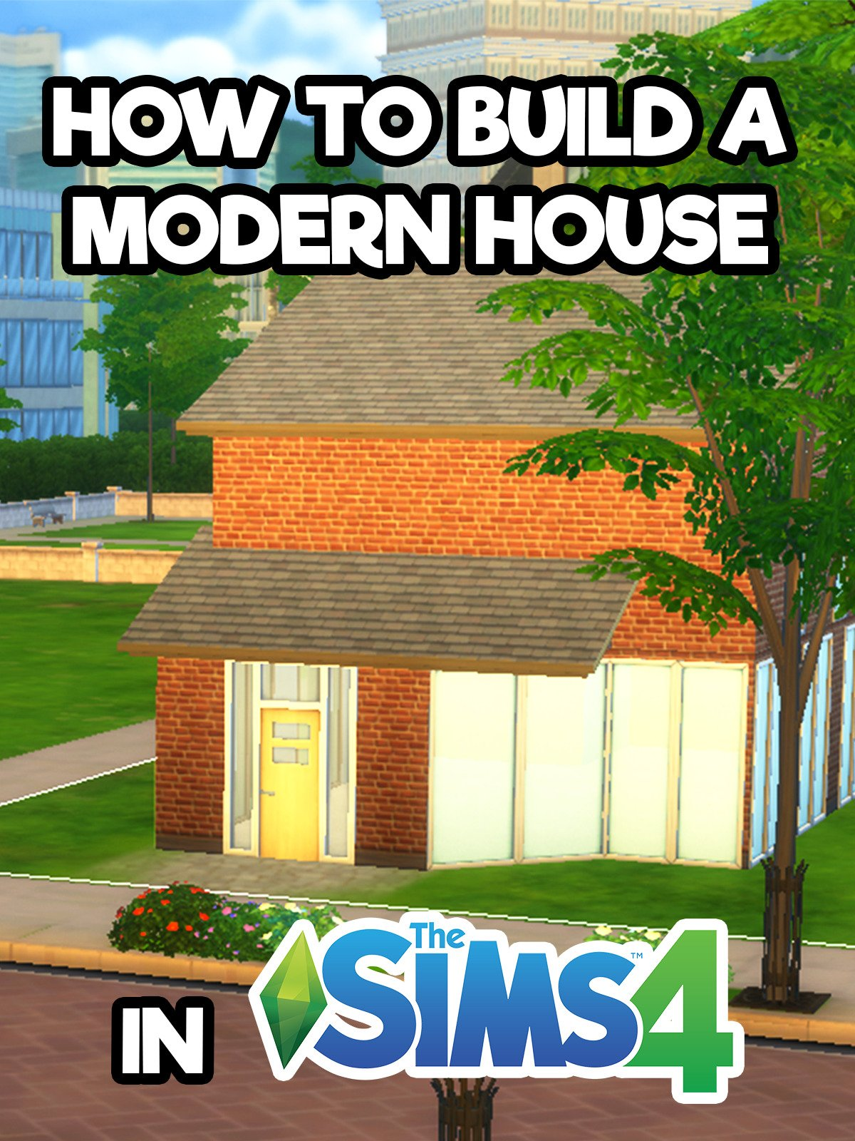 Clip: How to build a modern house in The Sims 4