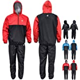 RDX MMA Sauna Sweat Suit Running Non Rip Track Weight Loss Slimmimg Fitness Gym Exercise Training,Red,Large