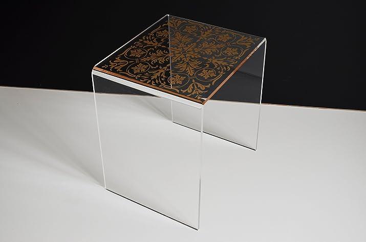 immi-living da salotto, in acrilico trasparente & # xFF08; 41,4x 35,3x 45,7cm & # XFF09;
