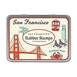 Cavallini Papers & Co., Inc. STSET/VINSF Vintage San Francisco Stamp Set Vintage San Francisco Rubber Stamp Set