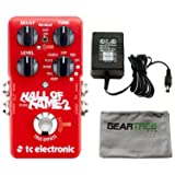TC Electronic 960661001 Hall of Fame 2 Electric Guitar Reverb Effects Pedal with ac adapter and Zorro Sounds Guitar Pedal Polishing Cloth (Color: Red)