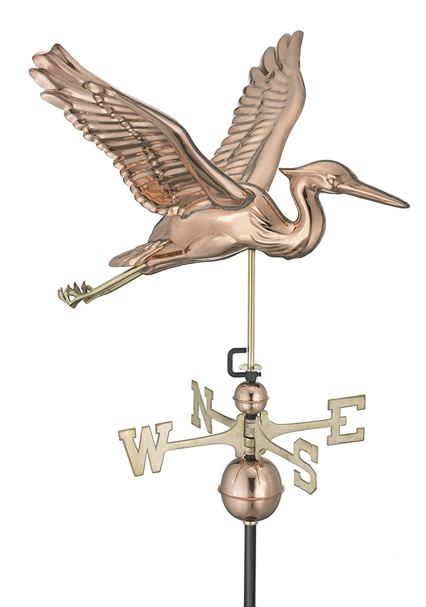 Good Directions Blue Heron Weathervane, Pure Copper