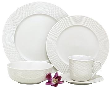 4 Melange Nantucket Service De Table Table 30 Pi Ces En Porcelaine De De Qualit Motif