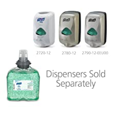 PURELL 5457-04 Advanced Instant Hand Sanitizer with Aloe, 1,200 mL TFX Refill (Case of 4)