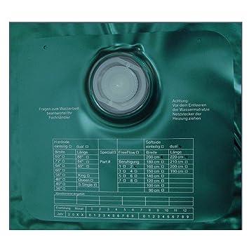 ABBCO Eezy Wassermatratze - Wasserkern Softside fur Duales WB 200x220 cm F5 = Nachschwingzeit ca. 0-0,5 Sek