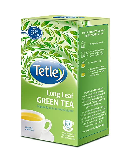 Tetley Long Leaf Green Tea, 250g
