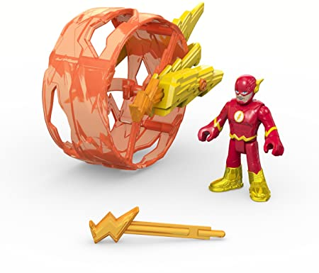 Fisher-Price – Imaginext – DC Super Friends – Flash et sa Roue – 1 Mini Figurine + Accessoire