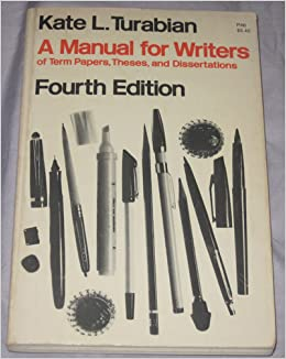 a manual for writers of term papers