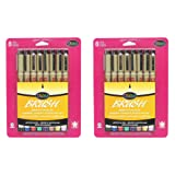 Sakura 38062 8-Piece Pigma Assorted Colors Brush Pen Set,Pack 2 (Color: Assorted ( Pack 2 ))