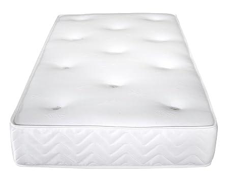 Vogue Betten Pocket Matratze, weiß, Textil, Weiß, Zweifach (135 x 190 cm)