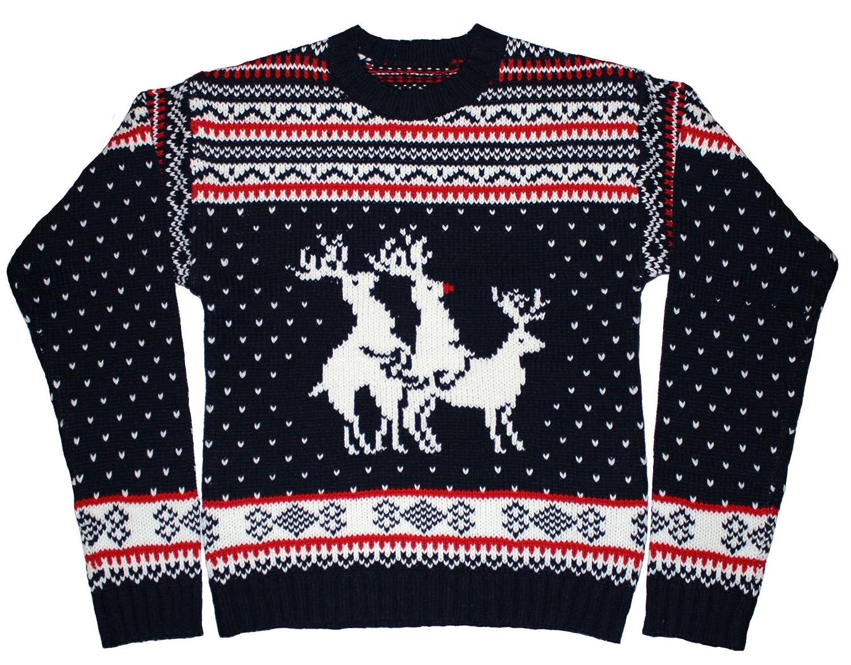 Пуловер С Оленями Купить