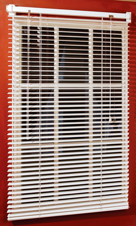 magne 40 inch vinyl mini blind with 1 inch slats and 25. Black Bedroom Furniture Sets. Home Design Ideas