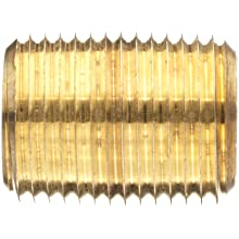 Anderson Metals Red Brass Pipe Fitting, Nipple, NPT Male