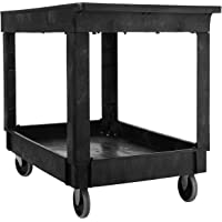 Rubbermaid Commercial Utility Cart Lipped Shelves (Black)
