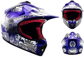 ARROW AKC-49 blue - bleu casque motocross KIDS moto pour enfants Taille: XS S M L XL