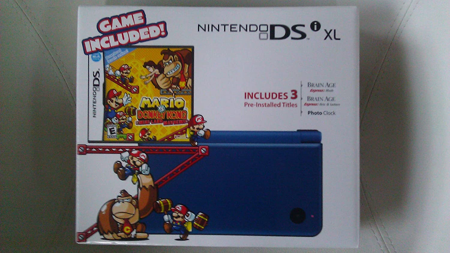 Nintendo DSi XL - Midnight Blue Bundle with Mario vs Donkey Kong Mini-Land Mayhem чулки seven til midnight большого размера с кружевной резинкой xl телесный