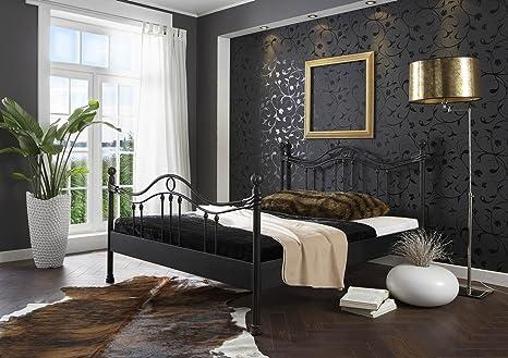 SAM® Metallbett 180 x 200 cm Kea in schwarz