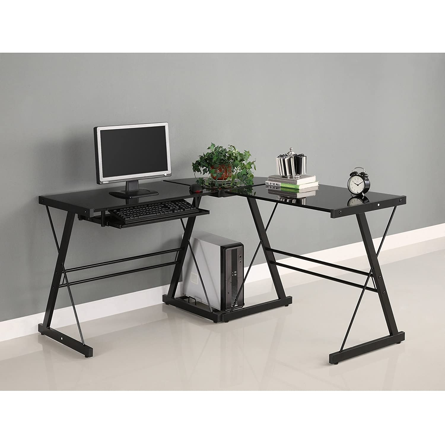 This gaming station computer desk look stunning and offers very good value for money.