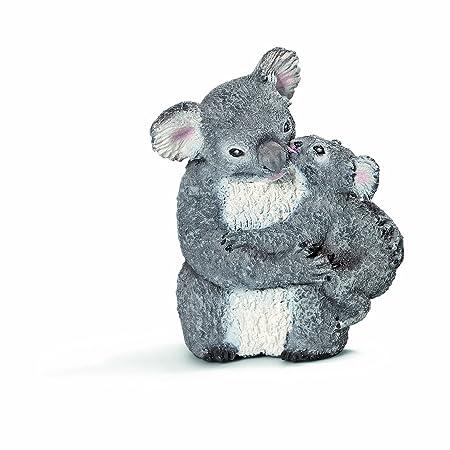 Schleich - 14677 - Figurine - Koala Femelle avec Jeune koala