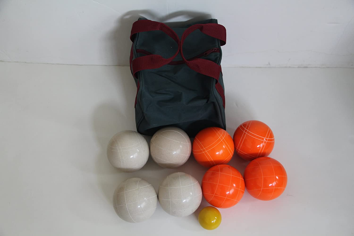 Premium Quality EPCO Tournament Bocce Set – 110mm White and Orange Bocce Ball… online bestellen