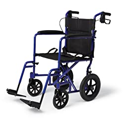 Medical Lightweight Transport Wheelchair with Brakes