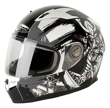 NITRO 187149M16 Casque Moto N2100 Samurai Gris