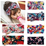 Fasker 6 Pack Baby Girl Headband Turban Knotted Headwraps for Newborn & Toddlers (Color: 6 Pack (Multicolor 01), Tamaño: One Size)