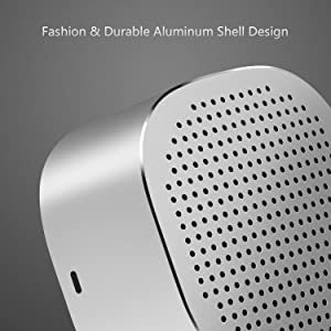 Portable Bluetooth Speaker Box, Jelly Comb Mini Rechargeable Wireless Bluetooth Speaker with Built-in Mic, Aluminum Shell (Silver)