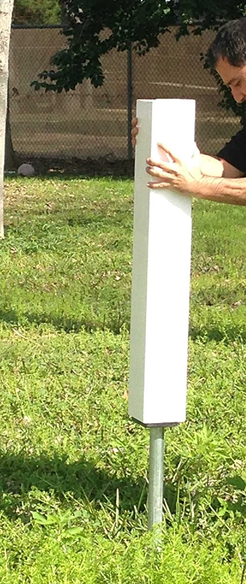 """60"""" X 4"""" Vinyl / PVC Square Post - White Fits up to 24""""x36"""" Signvinyl PVC Real Estate Sign Post - White with Flat Cap"""