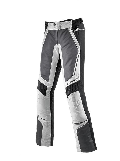 Clover 99137314_ 46VENTOU Anneau Grand Moto Pantalon Femme Noir/Blanc