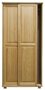 Kleiderschrank Massivholz natur 014 - 190 x 80 x 60 cm (H x B x T)
