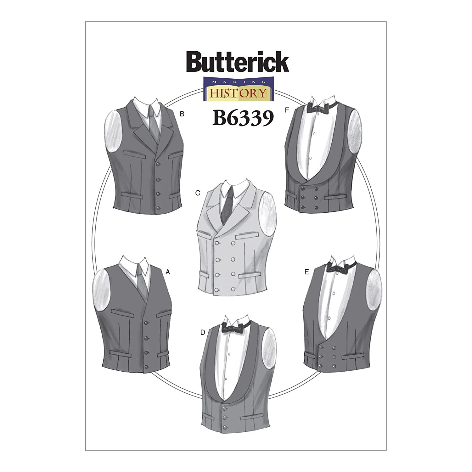 Men's Vintage Reproduction Sewing Patterns Mens Single or Double-Breasted Vests XM (Small-Medium-Large) $12.50 AT vintagedancer.com