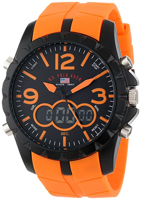 u s polo assn watch uhr herrenuhr uhren orange new. Black Bedroom Furniture Sets. Home Design Ideas