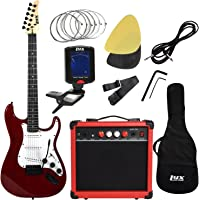 LyxPro Electric Guitar with 20w Amp with All Accessories